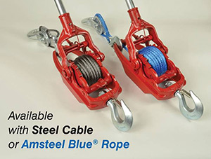 Cable and Amsteel Pullers Together