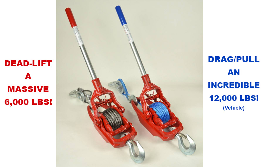 The More Power Puller Available with Steel Cable or AmSteel®Blue Rope